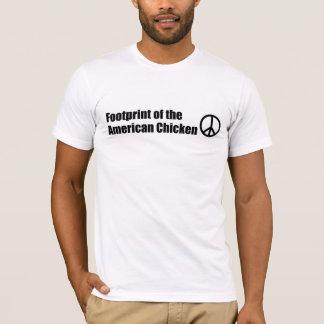 Abdruck des amerikanischen Huhns T-Shirt