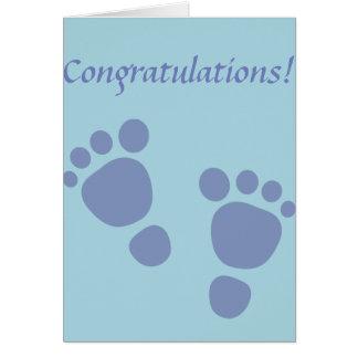 Abdruck-Glückwunsch-neugeborener Junge Karte