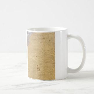 Abdruck im Sand Kaffeetasse