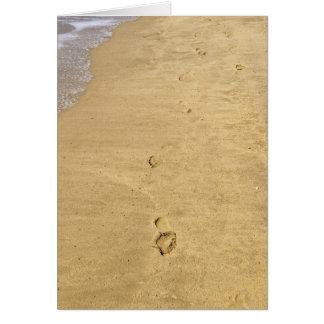 Abdruck im Sand Karte