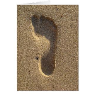 Abdruck im Strandsand Karte
