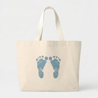 Abdrücke des blauen Babys Jumbo Stoffbeutel