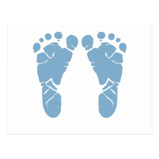 Abdrücke des blauen Babys Postkarten