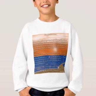 Abdrücke im Sand-Gedicht Sweatshirt