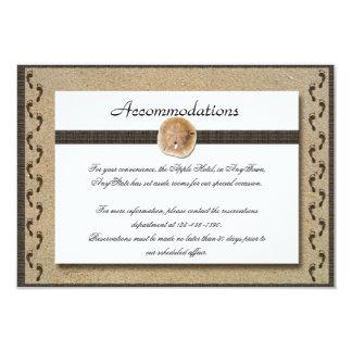 Abdrücke im Sand-Hochzeits-Einsatz 8,9 X 12,7 Cm Einladungskarte