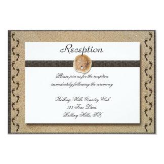 Abdrücke im Sand-Hochzeits-Empfang 8,9 X 12,7 Cm Einladungskarte