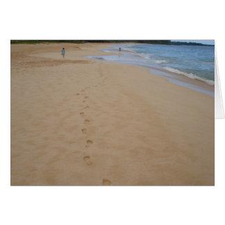 Abdrücke im Sand Karte