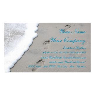 Abdrücke im Sand - Visitenkarteschablone Visitenkarten