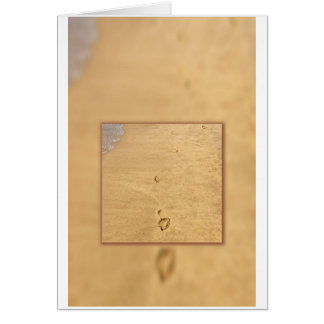 Abdrücke in der Sandcollage Karte