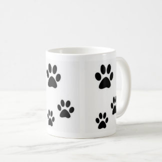 Abdrücke Kätzchen schöner Tasse