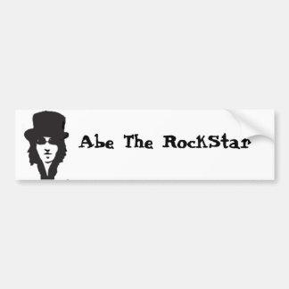 Abe der RockStar Autoaufkleber