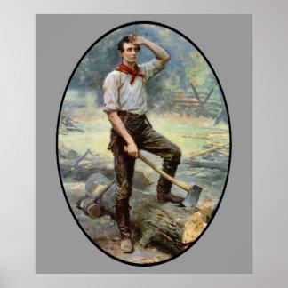 Abe Lincoln -- Der Schienen-Teiler Poster