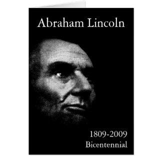 Abe Lincoln - elegantes Weiß auf Schwarzem Karte