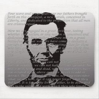 Abe Lincoln Gettysburg Adresse Mauspads