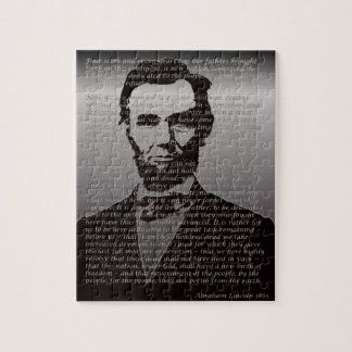 Abe Lincoln Gettysburg Adresse Puzzle