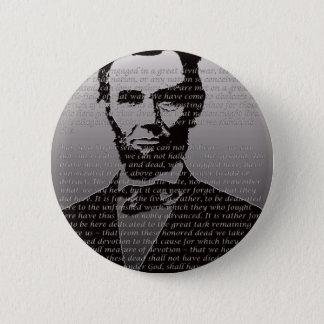 Abe Lincoln Gettysburg Adresse Runder Button 5,1 Cm