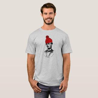 Abe Lincoln in einem Beanie T-Shirt