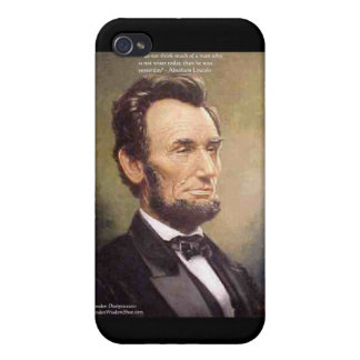 "Abe Lincoln ""klügere"" iPhone 4 Case"