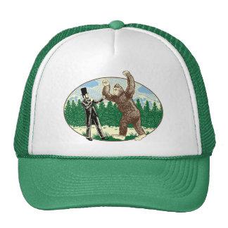 ABE LINCOLN: SASQUATCH JÄGER - lustiges Bigfoot-Lo Trucker Caps