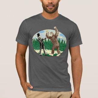 ABE LINCOLN: SASQUATCH JÄGER - lustiges T-Shirt
