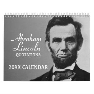 Abe Lincoln Zitate mit Foto Abreißkalender