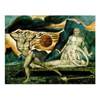 Abel fand durch Adam u. Eve Postkarte