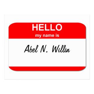 Abel N. Willin (fähig und Gewillt sein) Postkarte