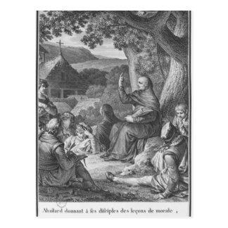 Abelard, das in der verlassenen Champagne Postkarte