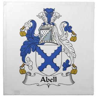 Abell Familien-Wappen u. Familienwappen Stoffserviette