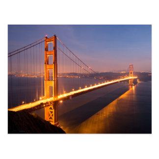 Abend an der Golden Gate Brücke Postkarte
