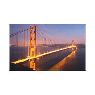 Abend an Golden Gate Brücke Galerie Faltleinwand