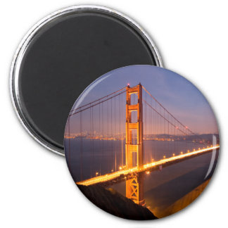 """Abend an Golden Gate Brücke"" Magneten Runder Magnet 5,7 Cm"