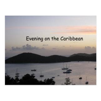 Abend auf den Karibischen Meeren Postkarte