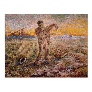 Abend, Ende des Tages, Vincent van Gogh Postkarte