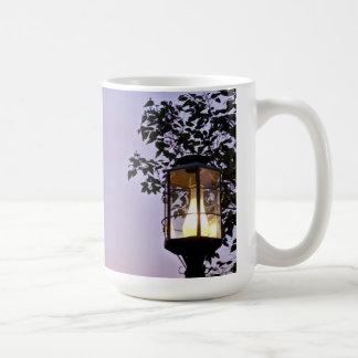 Abend lampost kaffeetasse