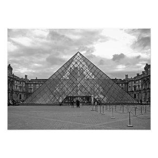 Abend. Reißen Sie zum Louvre das Museum hin Fotodruck