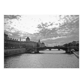 Abend. Sena. Brücken. Paris Fotodruck