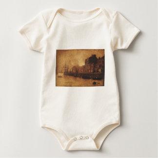 Abend, Whitby Hafen durch John Atkinson Grimshaw Baby Strampler