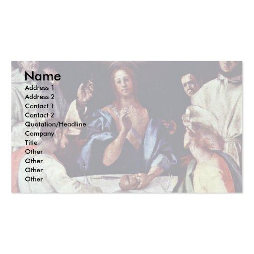 Abendessen bei Emmaus durch Pontormo Jacopo Visitenkarte