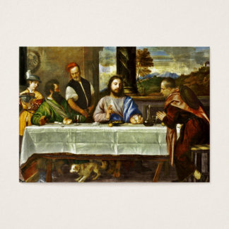 Abendessen bei Emmaus mit Freunden Jumbo-Visitenkarten