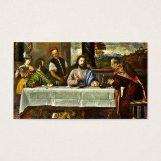 Abendessen bei Emmaus mit Freunden Visitenkarten