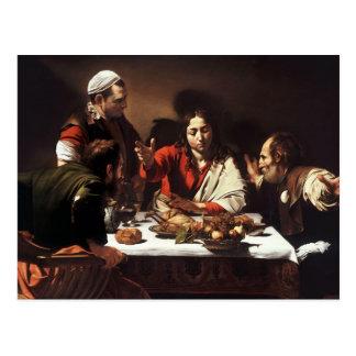 Abendessen bei Emmaus Postkarte