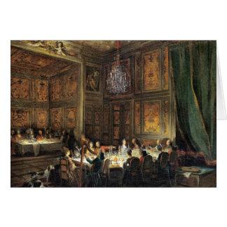 Abendessen des Prinzen von Conti im Tempel Karte