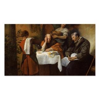 Abendessen Jan s Steen bei Emmaus Visitenkarten Vorlage