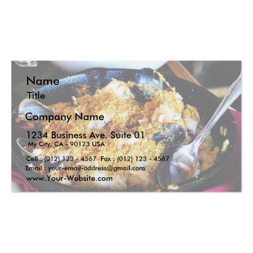 Abendessen-Nahrung Visitenkarten Vorlagen