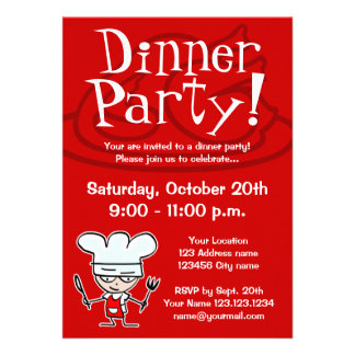 Abendessen-Party Einladungen