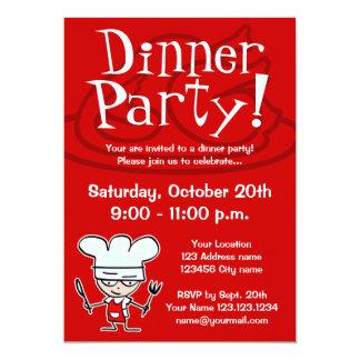 Abendessen-Party Einladungen 12,7 X 17,8 Cm Einladungskarte