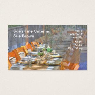 Abendessen-Party im Freien Visitenkarten