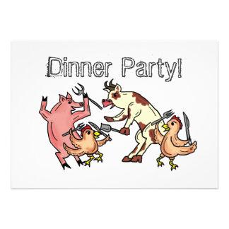 Abendessen-Party-Spaßeinladung