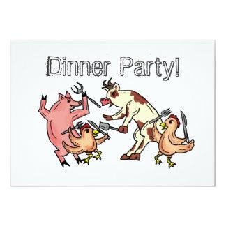 Abendessen-Party-Spaßeinladung 12,7 X 17,8 Cm Einladungskarte